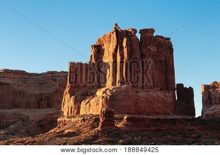 Red Rock formation in Arches National Park Utah.