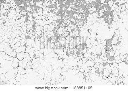 Old cracked paint background. Grunge black and white texture template for overlay artwork.