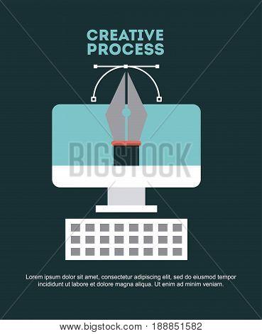 creative process flat illustration icon vector design graphic