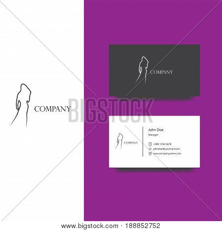 Vector eps logo design for fashion magazine or boutique company, Business Card Template, icon design