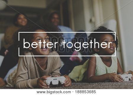 Happiness Together Family Love Word