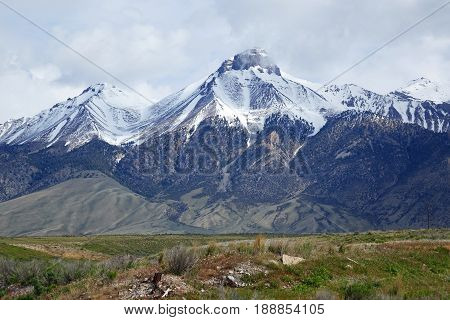 Mt. McCaleb is located in the Lost River Mountain Range near Mackay, Idaho.