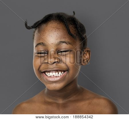 African kid portrait shoot with smiling expression