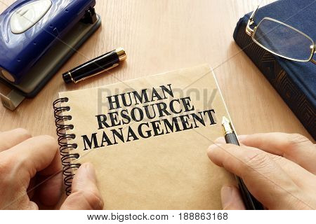 Book with title HRM - Human Resource Management.
