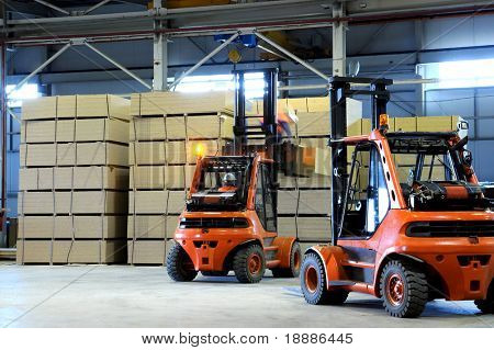warehousing of wooden slabs