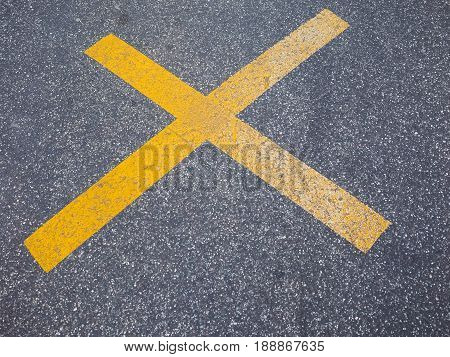 Yellow X Sign