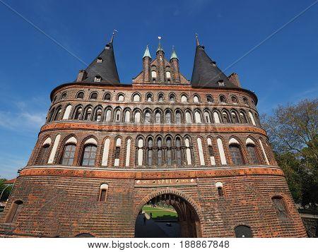 Holstentor (holsten Gate) In Luebeck