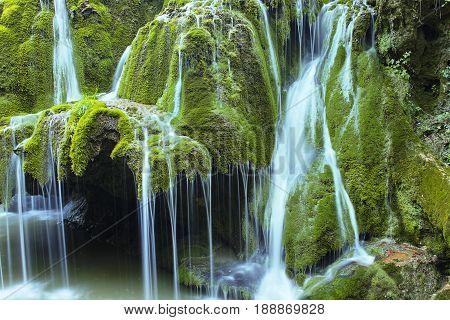 beautiful waterfall the cascade of Bigar Romania