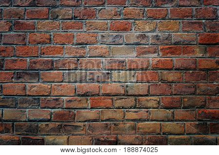 Texture of old vintage brick wall surface