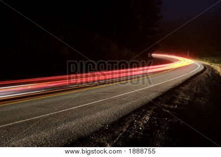 Mountain Road At Night