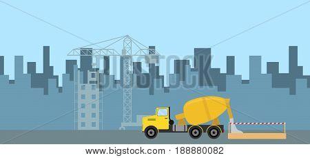 Pouring Concrete On Construction