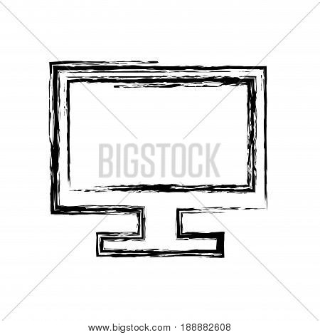 screen computer monitor. computer display device vector illustration.