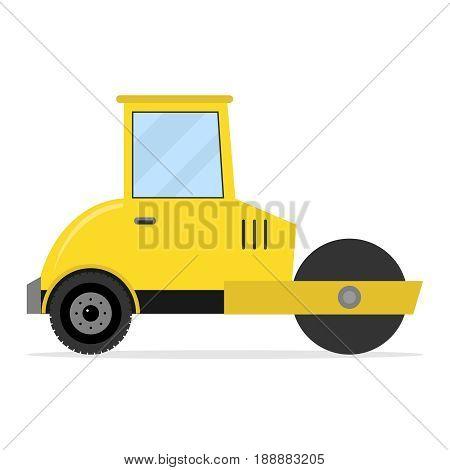 Asphalt paver. Flat design vector illustration vector.