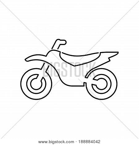Motorcycle, Motorbike Icon Simple Flat Vector Illustration