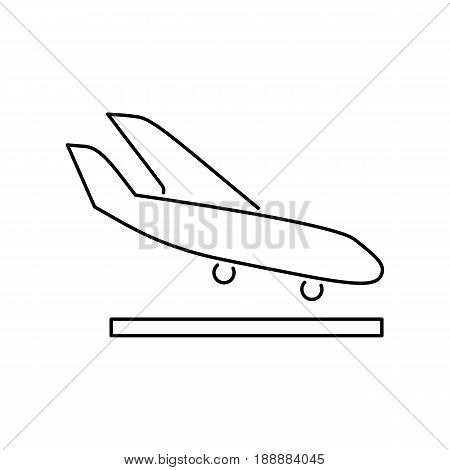 Arrival Landing Plane Icon Simple Flat Vector Illustration