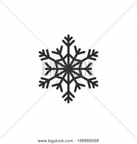 Cold Symbol, Snowflake Line Icon, Outline Vector Sign, Linear Pictogram Isolated On White. Logo Illu