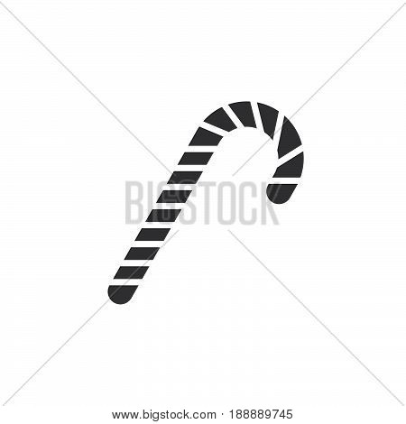 Candy Cane Icon Vector, Peppermint Stick Filled Flat Sign, Solid Pictogram Isolated On White, Logo I