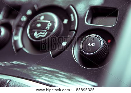 Air Conditioning Panel In A Modern Car