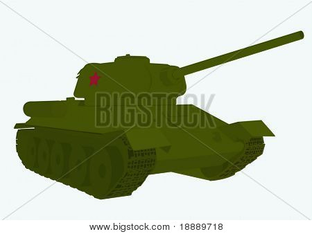 vector image of legendary Russian tank of the second world war T 34