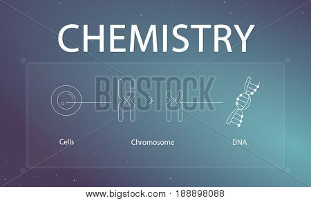 Illustration of biology humanity life science genetic research