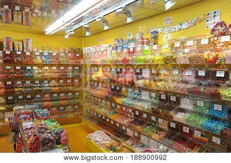 Bern, Switzerland - 17 September 2013: Candy shop at Bern on Switzerland