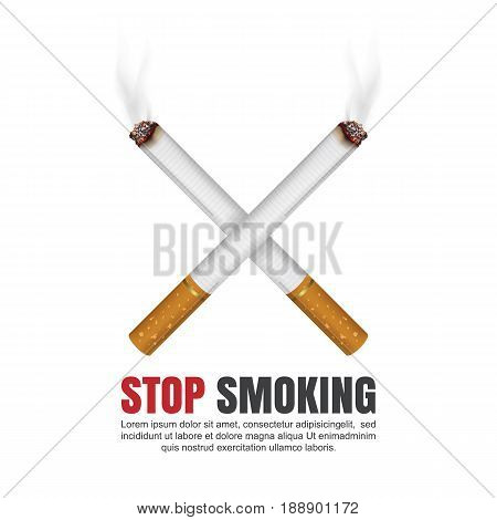 World no tobacco day concept, No Smoking, Stop smoking, Vector