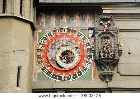 Bern, Switzerland - 17 September 2013: The famous clocktower of Bern on Switzerland