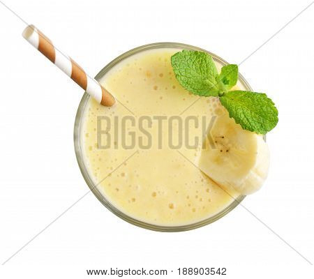 Glass Of Banana Milkshake