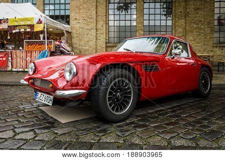 BERLIN - MAY 13 2017: Sports car TVR Vixen V8 1969. Exhibition
