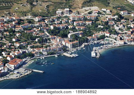 Village Bol on island Brac famous tourist place in Croatia