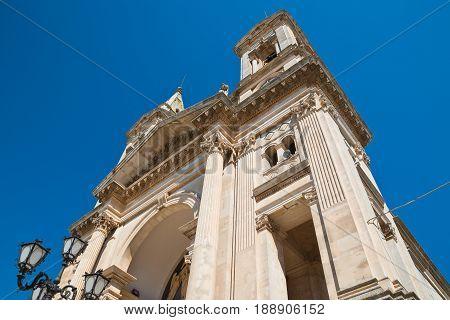 Basilica Church of SS. Cosma e Damiano. Alberobello. Puglia. Italy.