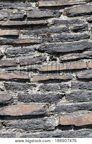 Old abstract weathered rustic stone wall background