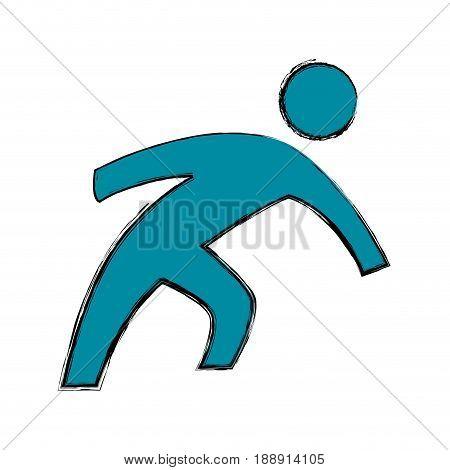 Man pictogram symbol icon vector illustration graphic design