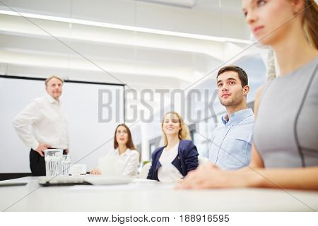 Consulting meeting for a business team in the conference room
