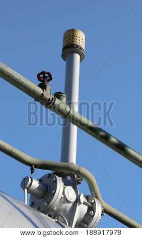 Vent Valve Of A Natural Gas Tank In The Industrial Refinery