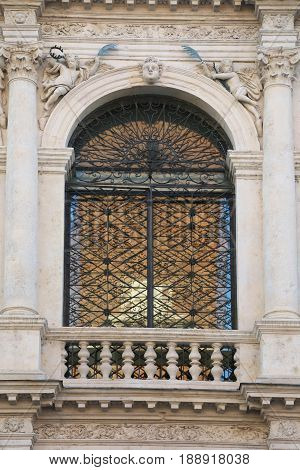 Window Of Ancient Church Of Saint Vicent Called San Vincenzoin I