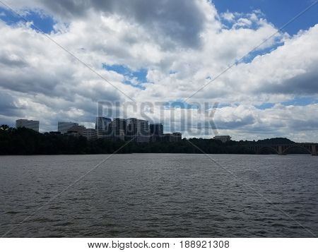 Georgetown in Washington, DC, and the Potomac River