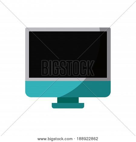 colorful silhouette of lcd monitor without contour and shading vector illustration