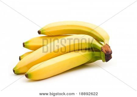 fresh banana on white background