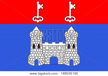 Flag of Chateau-Gontier is a commune in the Mayenne department in north-western France