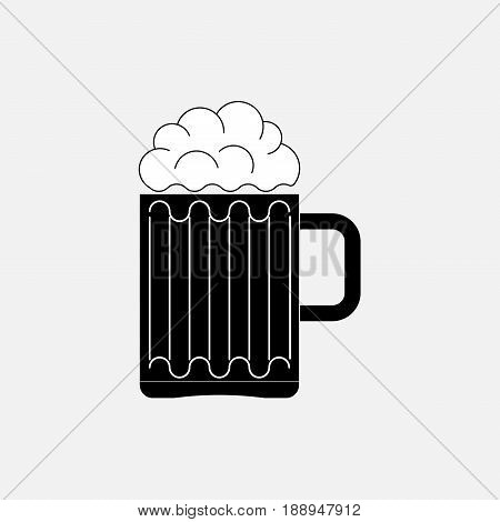 icon beer glass the image of the bar boozer fully editable vector image