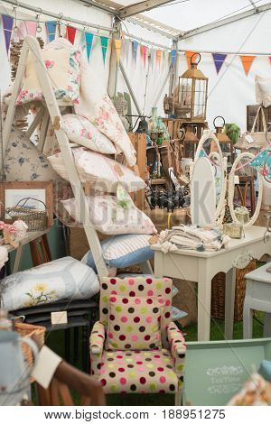 A Vintage, Shabby Chic Craft Stall
