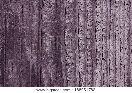 Texture of a tree with a violet hue vertical lines of cutting a pattern from a natural tree