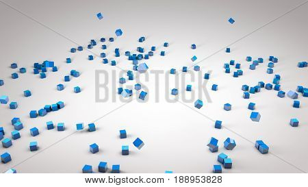 Cubes Scattered On White Surface