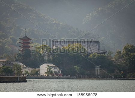 View Of Hiroshima Bay With Miyajimaguchi Town
