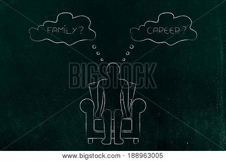 Family Or Career, Person Evaluating Life Priorities