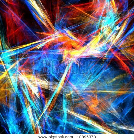 Colorful abstract strokes