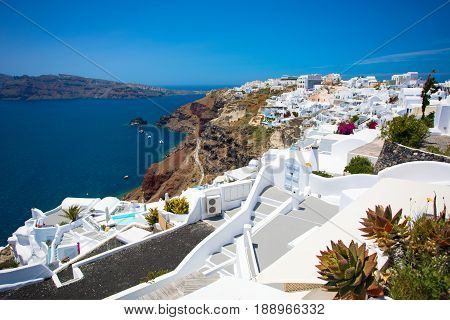 Oia town in Santorini Greece during the day time