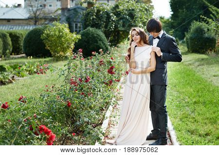 Sensitive Wedding Photo In Park