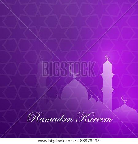 Ramadan kareem greeting card template. Stock vector